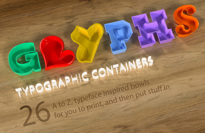Tony Short's collection of 'glyph' containers is an eclectic collection of 3D printable letters. It really is a labour of love and captures ...
